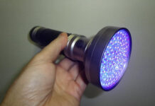 100 LED UV Flashlight